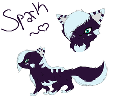 New Spark Refrence (Feral) by Sparkleztehpurplecat