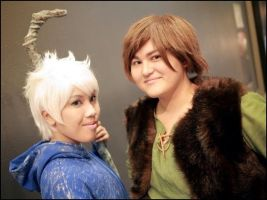 Jack Frost and Hiccup 2 by StarryNight359