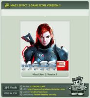 Mass Effect 3 Icon v3 by CODEONETEAM