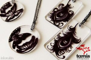 inkonskin tiny art necklaces 1 by feanne