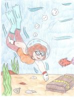 Diving Velma by Jose-Ramiro
