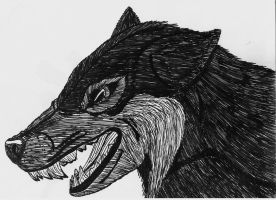 Wolf Face by Up-Your-Arsenal-N90