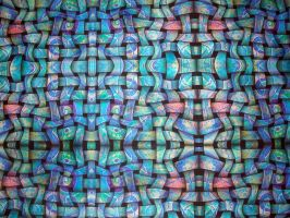 full blue textile trippy art abstract by santosam81