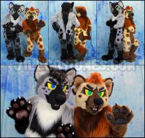 Hyena Couple by jillcostumes
