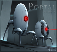 Portal Turrets by VegaColors