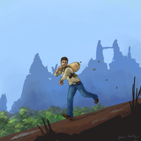 The Great Chase: Nathan Drake by Light-Heartless