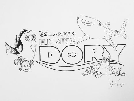 Finding Dory - Ink by melvinologic