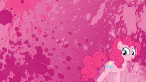 Pinkie Pie Splatter Wallpaper by brightrai
