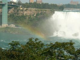 Rainbow at Niagara 1 by TheNerdYouAllLove
