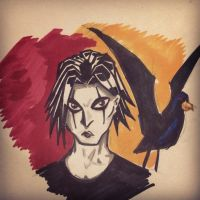 The crow by bunleungart