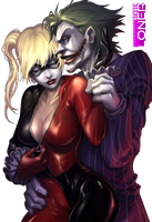 [Render]Batman: Harley and Joker by DamnPotatoes