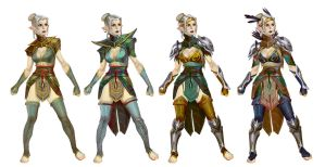 Heroes of Dragon Age elf keeper concept by anotherdamian