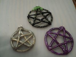 misc. polymer pentacles by AquariusStar82