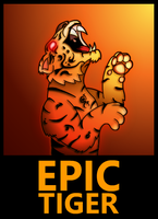 Epic Tiger Logo by HampoArgent
