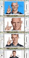 Daniel Tosh Portrait: The Process by Odie-Farber