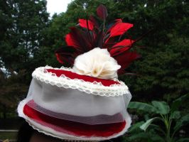 Ladies Red Velvet Riding Hat by bcainspirations