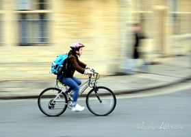 Pedalling fast! by Mark-Allison