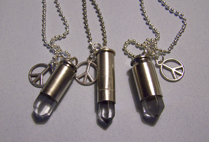 Beautiful Bullets Pendants by mymysticgems