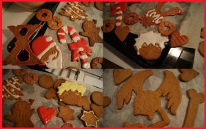 Gingerbreads x3 by Lillgoban