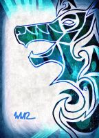 Tribal Wolf Art - Going back and Revising by WWolfyD