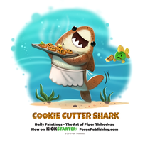 Daily 1365. Cookie Cutter Shark by Cryptid-Creations