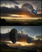 Moonfield Matte Painting by GeorgeLovesyArt