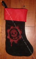 Gears of War Xmas Stocking by Emmy-has-a-Gun