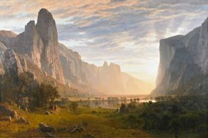 Bierstadt Looking Down Yosemite Valley by humayunkk2002