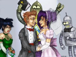 Futurama-  Wedding CLR by femjesse