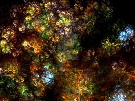 Meadow Flowers Fractal by ClaireBull