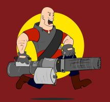Badge: Heavy Weapons Guy, TF2 by kkyz13