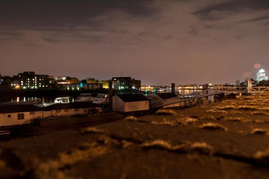 River Thames at Night by softspokenmc