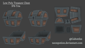 Low Poly Treasure Chest by neonpotion