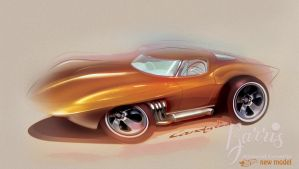 George Barris' Asteroid Corvette by candyrod