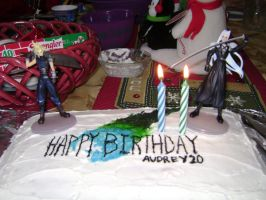 My birthday cake with statues by cyberelf2029
