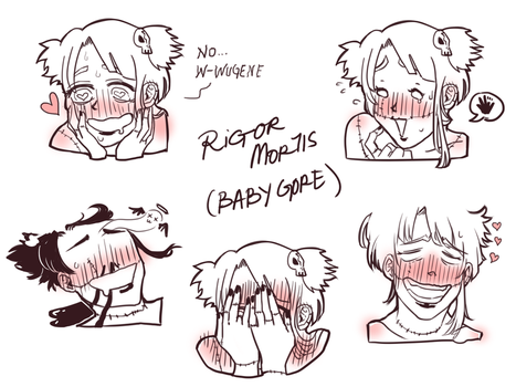 Baby Gore's Blushing Expressions by Ai-chan13