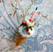 Birthday Cake Ice Cream Charm by LittleSweetDreams