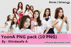 YoonA png pack (10 PNG) by RefiSone