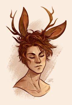 Jackalope by CrystalCurtisArt