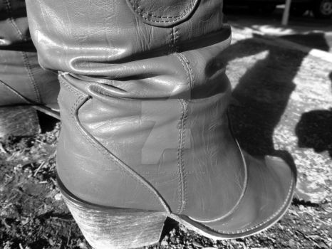 Black and white boots by JacobMcClure