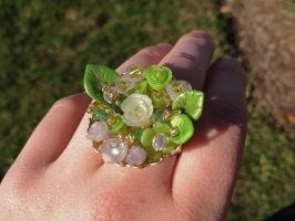 Green Garden Ring [FOR SALE] by HikariKage-Cat