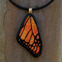 Med. Monarch Wing Glass by FusedElegance