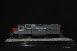 Southern Pacific EMD GP38-2 by 12jack12