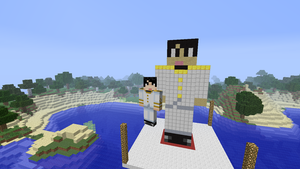 Japan Statue Minecraft (APH) by lollimewirepirate