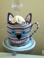 Cheshire Cat Teacup by PandoraLuv