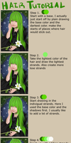 Hair tutorial by lNeliel