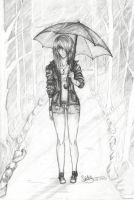 Standing in the Rain by SaidyWolf