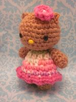 Hawaiian sun-kissed Hello Kitty amigurumi 2 by Spudsstitches