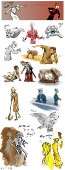 Discworld sketchdump - Small Gods by StormBay