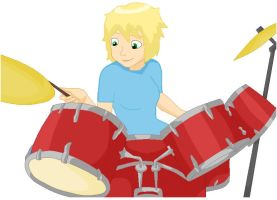 Hanners on the Drums by ShaliMahon